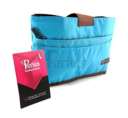 Periea Handtaschenordner, Einlage, Einsatz 10 Taschen groß 28x16.5x7cm - Tolla blau