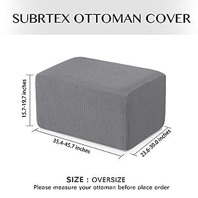 Subrtex Spandex Stretch Oversize Ottoman Slipcover