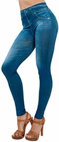 334ff7f2e85 Hattfart Womens Skinny Jeans High Waist Slim Leggings Denim Stretchy  Jeggings Seamless Yoga Pants