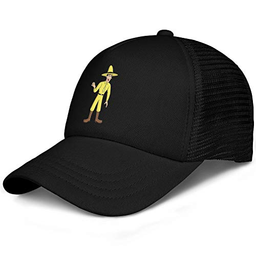 Migny Hills Baseball Hat Curious George a Man in Yellow Hat Unisex Snapback Adjustable Hat]()