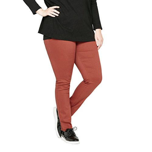 CASTALUNA Donna Pantaloni Jeggings, Treggings Ruggine
