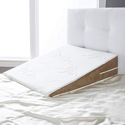 Avana Bed Wedge Memory Foam Pillow with Removable Bamboo Cover