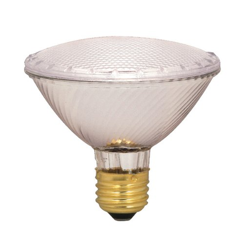 Satco S2236 60 Watt (75 Watt) 1090 Lumens PAR30 Short Neck Halogen Narrow Spot 9 Degrees Clear Light Bulb, Dimmable