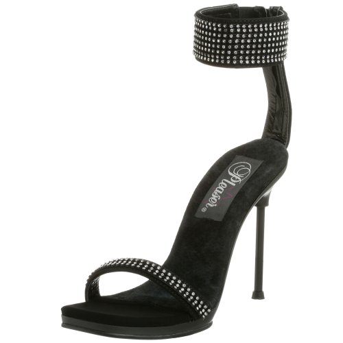 Pleaser Black 40 nubuck Chic Sandal Women's rwIavqr