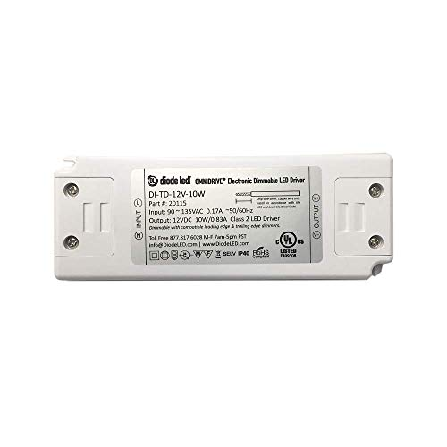 Diode LED DI-TD-12V-10W 10 Watt Omnidrive Electronic Dimmable LED Driver 12V ()