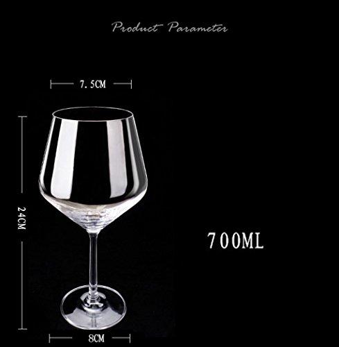 A-RQ Copa de Vino, Copa de Vino Blanco, Paquete de 2 Botellas de Vidrio sin Plomo: Amazon.es: Hogar