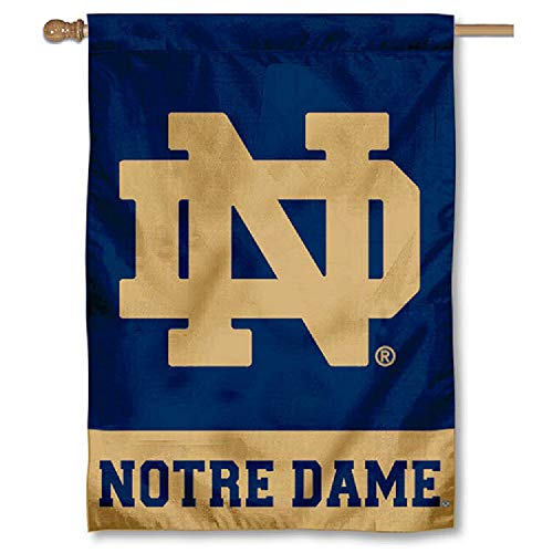 College Flags and Banners Co. Notre Dame House Flag ND Logo