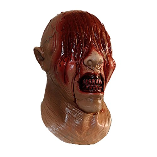 Latex Zombie Bloody Masks Scary See No Evil Full Head with Chest Devil Costumes Masks Fancy Dress