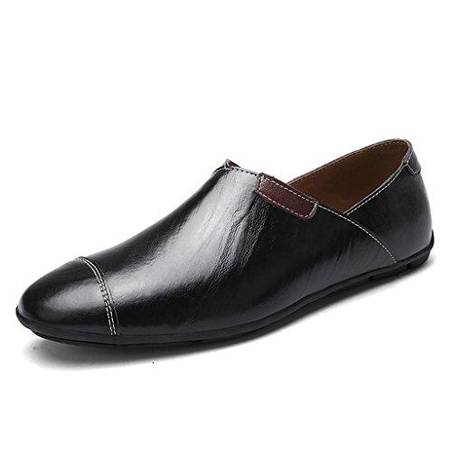 Grandi da Casual Lavoro da Scarpe Scarpe Scarpe Scarpe in Pelle Sera Scarpe Maschile Black all'aperto Scarpe q6SzI