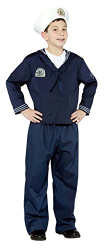 Kids Navy Uniform Military Soldier Child Costume Size ()