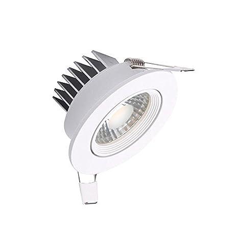 Downlight Led BASIC COB 5W, Blanco cálido. Halógeno Led, para sustituir bombillas halógenas convencionales ojo de buey redondo: Amazon.es: Iluminación