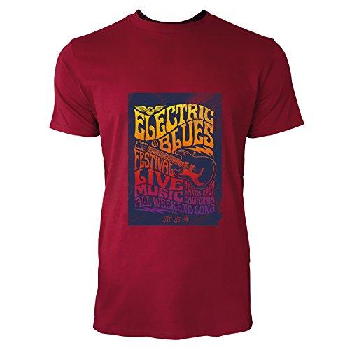 SINUS ART® Hippie Poster aus den 60ern und 70ern Herren T-Shirts in Independence Rot Fun Shirt mit tollen Aufdruck