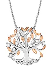 Thehorae Tree of Life Pendant Necklace for Women Rose Gold Family Tree Necklace for Mother Wife Daughter