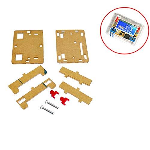 3A DC-DCステップダウンLCDディスプレイ電圧計Diyキット用10PCS / LOTアクリルクリアケースシェルハウジングボックス