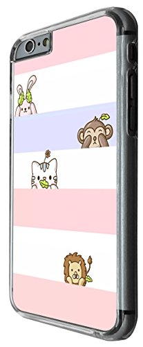 1001 - cool fun cute kawaii art kitten bunny lion monkey Design For iphone 5C Fashion Trend CASE Back COVER Plastic&Thin Metal -Clear