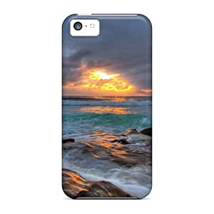 XiFu*MeiSpecial Mycase88 Skin Cases Covers For ipod touch 5, Popular Sea Cloudy Sunset Phone CasesXiFu*Mei