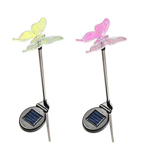 Pink Butterfly Solar Lights