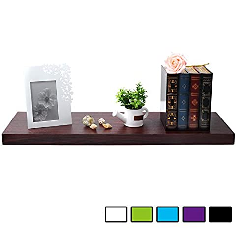 WOLTU Floating Wall Shelves MDF Wall Mount Wood Ledge Display and Organizer Rack with Hidden Brackets,23.62