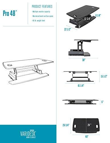 Varidesk Height Adjustable Standing Desk Pro 48 Desertcart