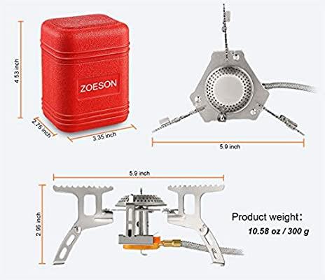 Zoeson Outdoors Mini Camping Stove,Backpacking Stove,Backpack Stove, Ultralight Collapsible Stove Backpacking