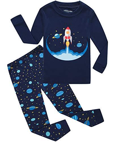 Dolphin&Fish Boys Pajamas Space Little Kids Pjs Sets 100% Cotton Toddler Sleepwears Children Clothes 24Months