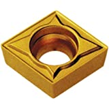 "Cobra Carbide 40142 Solid Carbide Turning Insert, CM02 Grade, Multilayer Coated, CCMT Style, Molded Chipbreaker, CCMT 32.52, 5/32"" Thick, 1/32"" Radius (Pack of 10)"