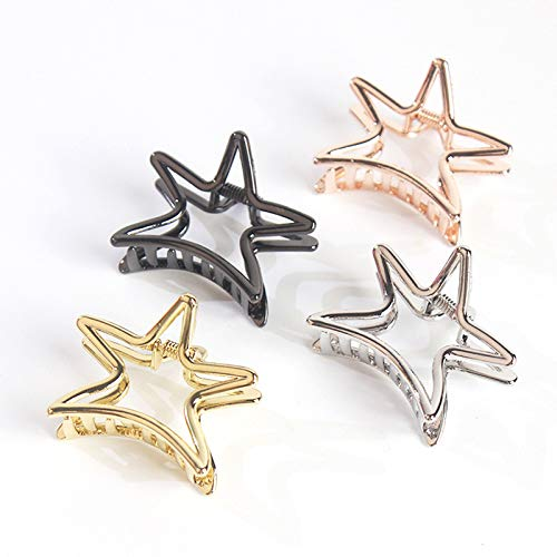 Weimay Hairpin Five-Pointed Star Shape Ponytail Clip Hollow Alloy Women Hairpin Hair Accessories by Weimay (Image #3)