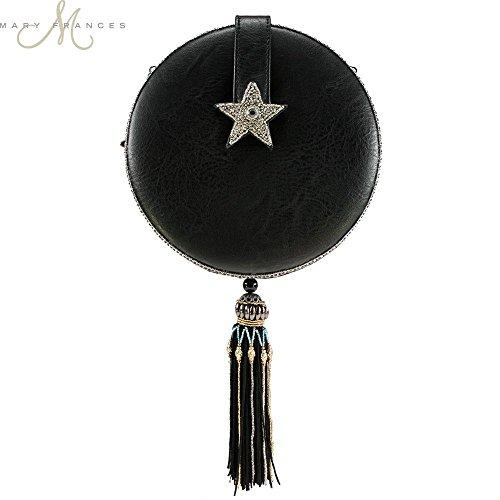 To Day and Night Celestial Handbag Round Beaded Moon MARY FRANCES Sun a15wYExWq