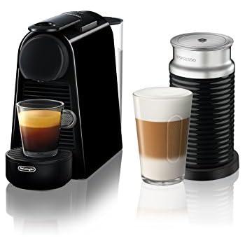 Nespresso Essenza Mini Espresso Machine by De'Longhi with Aeroccino, Black