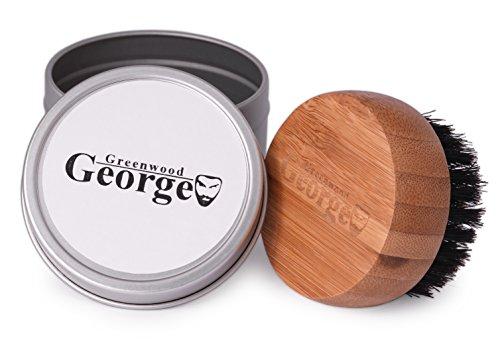 George Greenwood - Bartbürste aus reinen Schweineborsten mit einem handlichen Griff aus hellem Holz