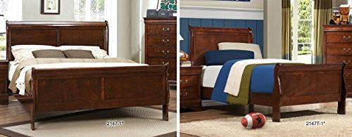 Homelegance Quincy Sleigh Panel Bed, Queen, Cherry