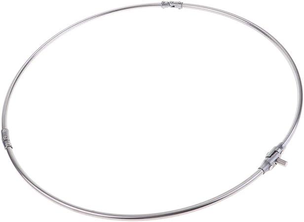 SM SunniMix Edelstahl Klappbar Kescherkopf Ring Rund Rahmen 35 x 20 cm