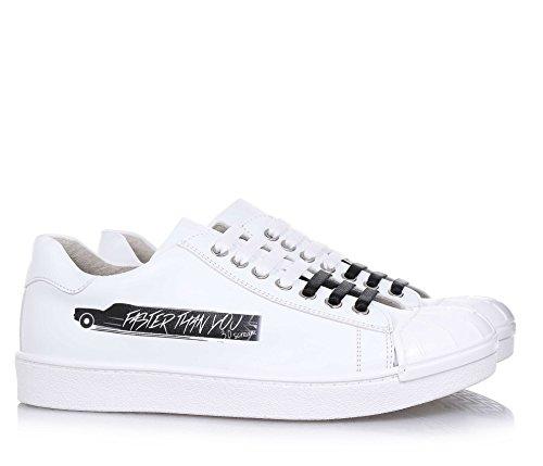 3.0 BERLIN - Weißer Schuh mit Schnürsenkeln, aus Leder, völlig in Italien in einer Schuhfabrik der italienischen Region, Unisex Kinder