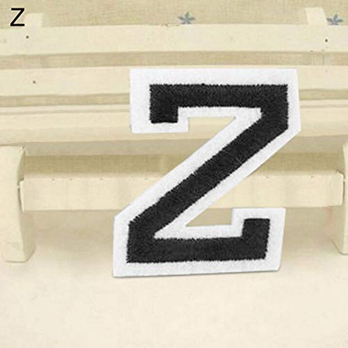 Braceus English Alphabet Letter A-Z Embroidered Sew Iron On Patch Badge DIY Applique Z