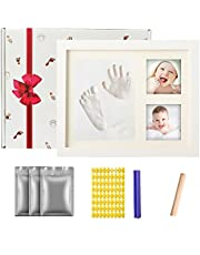 Baby First Year Photo Frame - Olele Baby Handprint&Footprint Kit Babies Memorable Keepsake Set Picture Frame with Non-Toxic Clay/Ink- Best Shower/Birth Registry Gifts for Newborn Infant