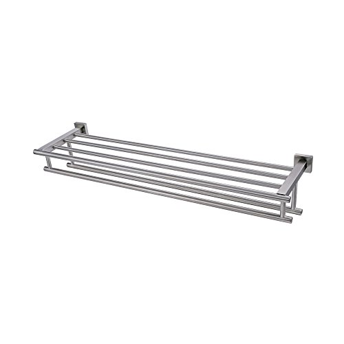 Kes Large Towel Rack, Towel Shelf with Two Bar  Shower Organ