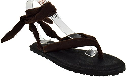 Zapatos Marrón 2sling Gladiador Flop Tira yoga STYLE NEW Fashion Asorted Flip