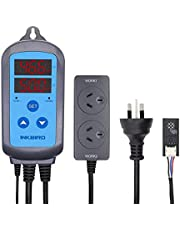Inkbird 10A Digital Humidity Controller IHC200 Wired Outlet Dural Stage Humidistat Regulator for Pet Reptiles Aquarium Air Conditioner Dehumidifiers Humidifiers Bathroom Fans