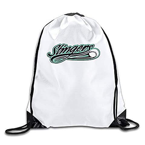 Stingers Logo Lightweight Drawstring Bags Backpack White Size One Size (Last Kings Pouch)