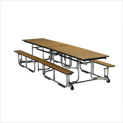 Ki Folding Table With Benches - 12'X29-1/2