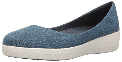 Fitflop Donna Super Ballerina Balletto Denim Piatto