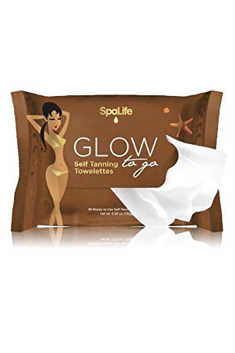 SpaLife Glow To Go Tanning Wipes - 30 Count - Self Tan Towelettes - 6 pack