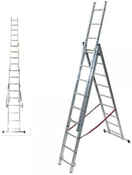 Bulto – Escalera 3 x 8 peldaños con escaleras Función: Amazon.es: Bricolaje y herramientas
