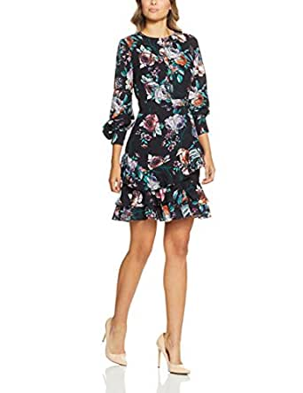 Cooper St Women's Botanical Long Sleeve Dress, Print Dark, 8