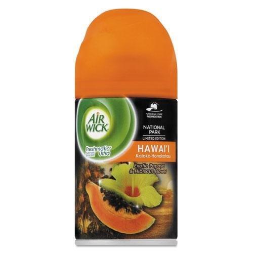 RECKITT BENCKISER PROFESSIONAL 85189 FreshMatic Ultra Spray Refill, Hawaii Exotic Papaya & Hibiscus, 6.17oz Aerosol