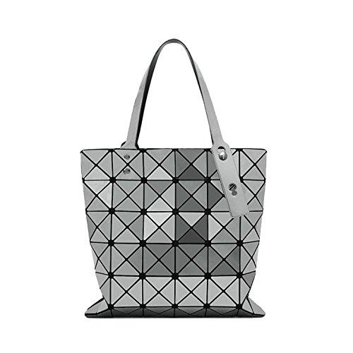 AJLBT Lady Moda Simple Lingge Bolso De Hombro Temperamento Bolso De Rubik Bolsa De Estilo Japonés Greysmall