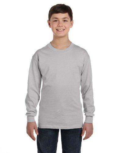 Hanes Boys' ComfortSoft TAGLESS Long-Sleeve T-Shirt_Light ()