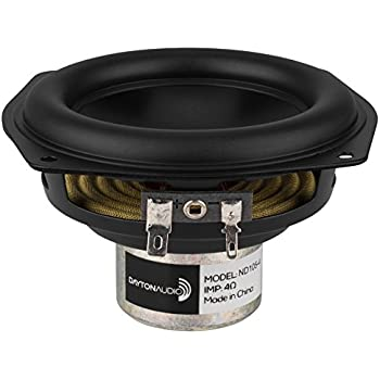 Dayton Audio TCP115-8 4 Treated Paper Cone Midbass Woofer 8 Ohm