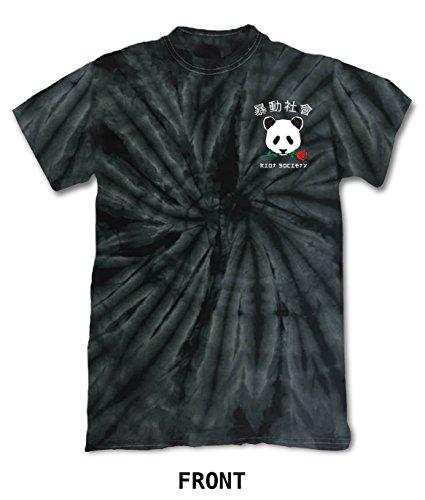 Riot Society Panda Rose Men's Graphic T-Shirt - Black Tie-Dye, X-Large