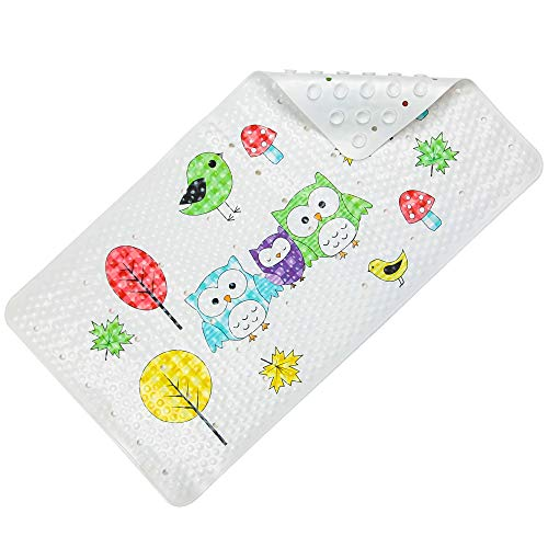 SENCOL Anti Slip Tape Kids Bathtub mat Children Bathroom Non Slip mat with Super Soft Surface Sturdy Suction Cup Anti-Bacterial Bathtub Mat Bathroom Accessories (39 x 71cm, No. Nine Seabed World) (Slip Anti Mats Bath)